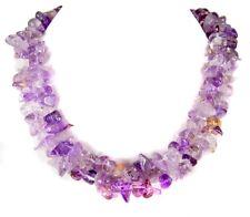 Außergewöhnlich schöne Halskette aus dem Edelstein Amethyst zweireihig