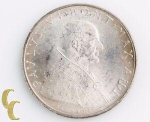 1963/I Vatican City 500 Lire (Uncirculated, UNC) Pope Paul VI Italy 500L KM-83.1