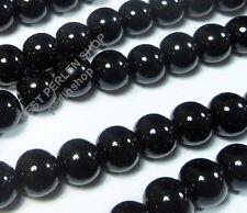 95 Onyx Schwarz Perlen 10mm Poliert Halbedelstein Kugeln Edelstein DIY G609#3