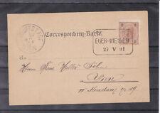 1891 Kasten Bahnpoststempel Strakonitz - Eger - Wien auf Correspondenzkarte