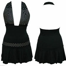 Polyester Halterneck Party Spotted Dresses for Women