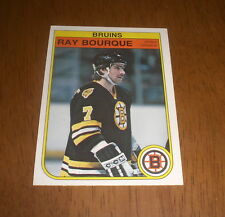 1982-83 OPC BRUINS RAY BOURQUE HOCKEY CARD -  No.7