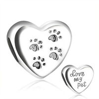 Footprint 925 silver charms Bead for UK European Female sterling DIY bracelets