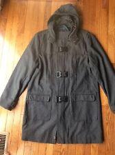 Men's INC ~ International Conpects Long Gray Wool Coat ~ XL