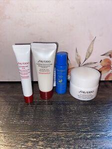 4 Pc Shiseido Sample Set Moisturizing Gel Cream, Ultimune Eye, Cleanser, 50+ SPF