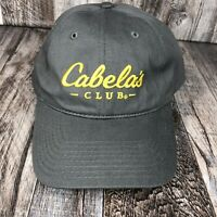 Cabela's CLUB Dad Hat Baseball Cap One Size Strapback Gray & Yellow Embroidery