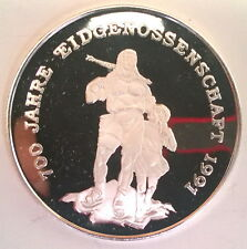 Cambodia 1988 Swiss Unity 20 Riels Silver Coin,Proof