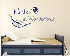 Name Wall Decals Alice in Wonderland Vinyl Stickers Nursery Home Decor FD114