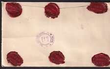 NETHERLANDS 1958 to NY 5 AVE Thos Cook & Son Reg. Mail Red Wax Seal AMSTERDAM