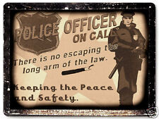 POLICE OFFICER METAL SIGN COP plaque vintage style funny MANCAVE wall decor 243
