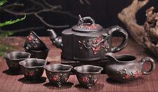 8pc Handmade Ceramic Teapot Set Teapot ore Plum Teapot Set Tea Decoration NEW