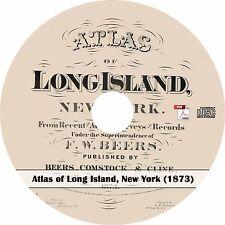 1873 Atlas of Long Island, New York -  Plat Maps Book on CD