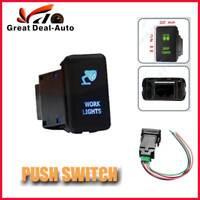Push Rocker Switch Work Lights Blue LED For Toyota Landcruiser Prado Hilux Boat