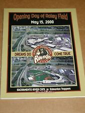 Vintage Sacramento River Cats Opening Day of Raley Field Program May 2000 Ltd Ed