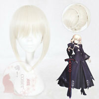 Anime Fate stay night/zero Saber Alter Cosplay Full Short Wig Hair + Wig Cap#604