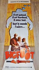 BIGFOOT  ! affiche cinema format pantalon