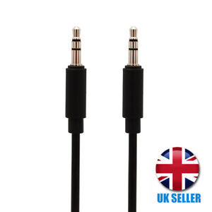 1M AUX PVC Black Cable 3.5mm Stereo Jack Car Auxiliary Lead Male to Male Audio