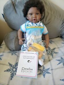 Paradise Galleries African American Reborn Baby Boy Doll, Wonderfully Made