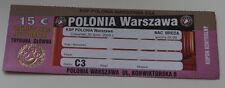 OLD TICKET EL Polonia Warszawa Poland NAC Breda Holland