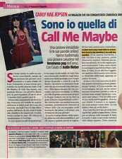 Q21 Clipping-Ritaglio 2012 Carly Rae Jepsen Sono Io quella di Call Me Maybe