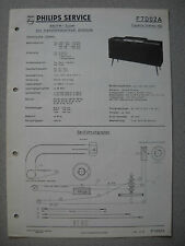 Philips F7D02A Capella Stereo 702 Service Manual Ausg. 06/60 inkl. Service Info