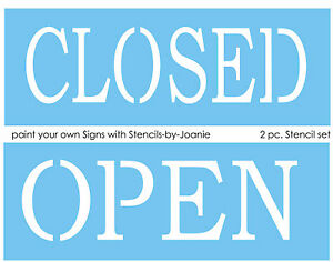 2 pc. Stencil Open Closed You Make Business Shop Craft Show Boutique DIY Signs
