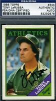 Tony Larussa Signed 1988 Topps Psa/dna Certed Autograph Authentic