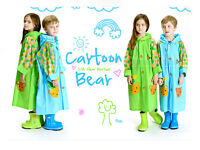 Kids Children Boys Girls Cartoon Hooded Raincoat Rain Coat waterproof Jacket