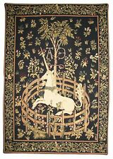 "NEW 28 x 20"" UNICORN IN CAPTIVITY TAPESTRY WALL HANGING"