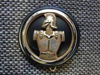 macaron plastique Noir pour insigne de béret Génie