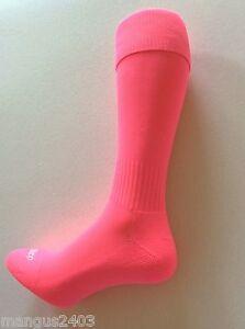 KIDS BOYS HIGH QUALITY FLUORESCANT ORANGE OR PINK SONDICO FOOTBALL RUGBY SOCKS