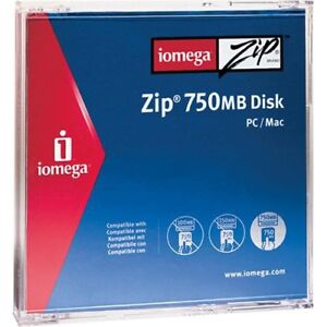 IOMEGA 750Mb Zip Disk PC / MAC Compatible - Jewel Case - USED - A