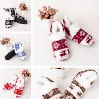 Boots Socks Winter Warm Lovely Floor Shoes Non-slip Soft Plush Slippers