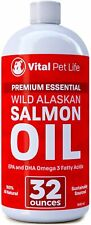 Salmon Oil for Dogs, Cats, and Horses, Fish Oil Omega 3 Food Supplement