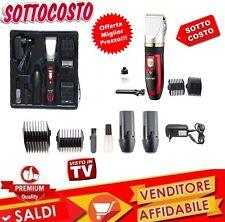 Taglia capelli professionale RASOIO Barba CON LAMA IN CERAMICA E DOPPIA BATTERIA