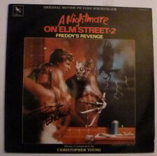 "Robert Englund Signed Nightmare on Elm Street 2 12"" Album Cover Vinyl AFTAL"