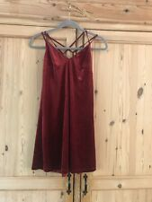 Top Shop Velvet Mini Red Dress Size 10 Petite