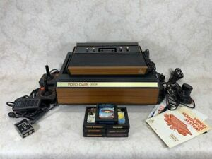 Vintage Atari Video Computer System With Games