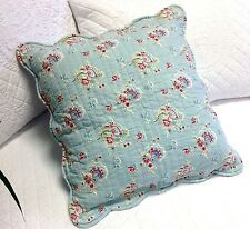 Shabby Chic Turquoise Cushion / Throw Pillow Cover 45x45cm 17.50""