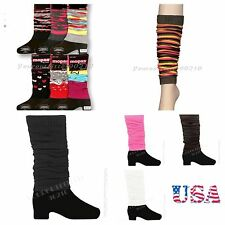 Women Leg Warmer Socks Pair Design Winter Fashion Lady Legging Knee High Girl