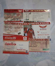 LLANELLI & SCARLETS RUGBY TICKETS 2001 - 2008 GROUP of 6