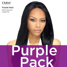 """Outre Purple Pack 100% Human Hair Yaki Weave 8"""" ~ 24"""" (Buy 2, Get 1 at 15%)"""