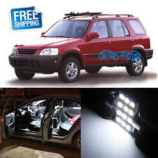 6X White LED Replacement Light Interior Bulb Package for Honda CRV 1997-2001