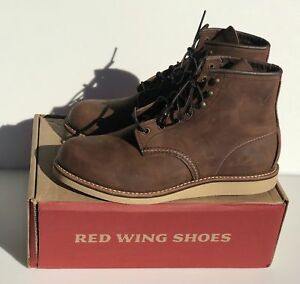 "RED WING 4549 6"" Rover Mens bourbon waxed leather boots factory 2nd $275"