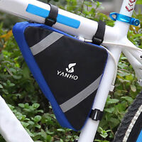 Triangle Cycling Bike Bicycle Front Tube Frame Pouch Bag Holder Saddle Pannier