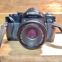 cosina C1S 35mm SLR Camera w/ F/2 50mm Lens Retro Lomo Student Camera! Working!