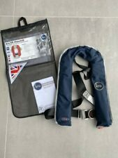 Kru XS lifejacket, navy, automatic gas inflation, harness closure, 150N rated