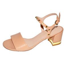 Stuart Weitzman MYGAL Nude Leather Sandal Size 10 NIB