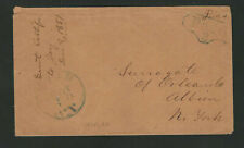 Ovid NY 1851 Stampless Cover With PAID 3 In Unusual Fancy Frame