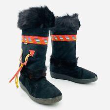Oscar Sport Alessia Black Fur Winter Boots Womens Size 41